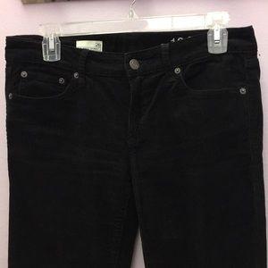 Black corduroy Gap jeans
